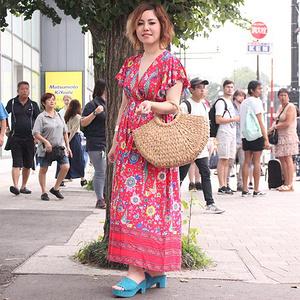 Model:@ririr1160.  Dress:coca . Shouse:GU . Bag:coca. . Accessory:Clair's . とてもステキなワンピ...